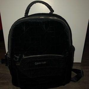 Calvin Klein velvet backpack